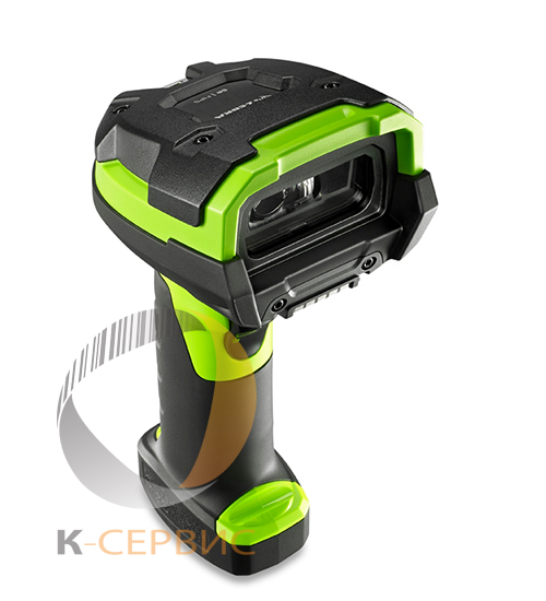 СКАНЕР ZEBRA DS3608-ER RUGGED GREEN VIBRATION MOTOR USB